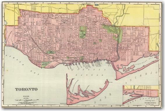 Toronto 1898 - Rand McNally