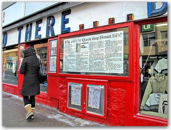 gary lautens, article, advertisement, honest ed's, store, shop, bloor street west, pedestrian, toronto, city, life