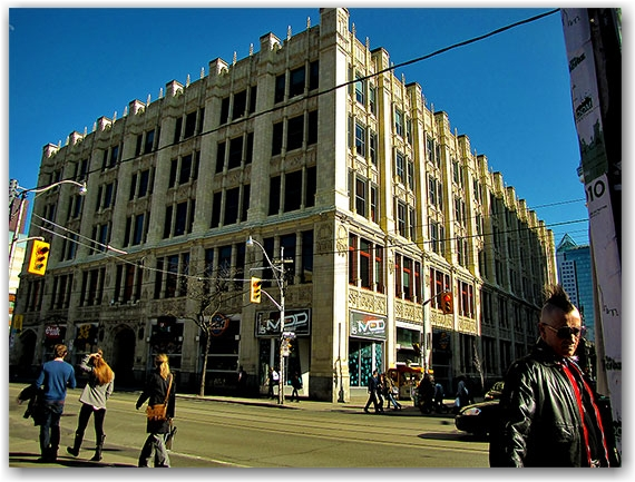 299 queen street west, much music, building, toronto, city, life