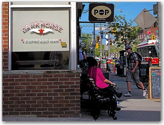 dark horse espresso bar, queen street east, leslieville, toronto, city, life