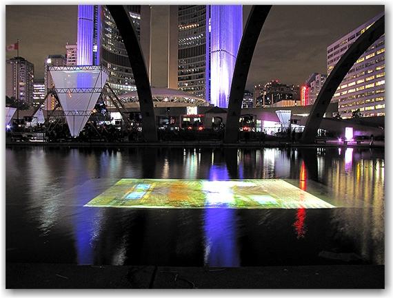 performance art, natha phillips square, city hall, nuit blanche, toronto, city, life