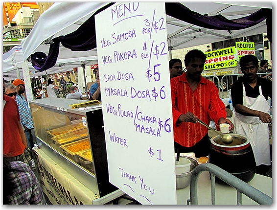 food vendor, yonge-dundas square, toronto, city, life