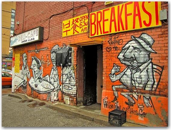 wendy's, restaurant, dundas street east, toronto, city, life
