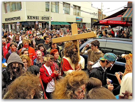 zombie jesus is risen. rejoice!