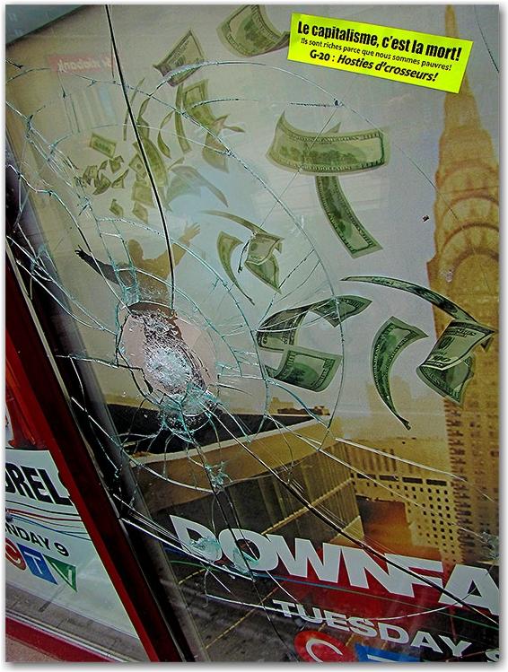 g20, riots, vandalism, broken glass, french, toronto, city, life