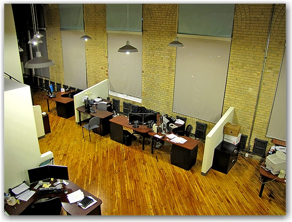 cubicles, office, desks, computers, toronto, city, life
