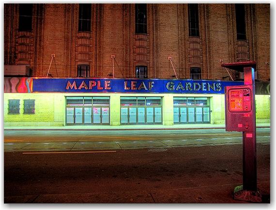 maple leaf gardens, carlton street, parking meter, toronto, city, life