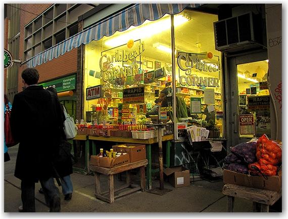 caribbean corner, kensington market, hot sauce, pedestrians, toronto, city, life