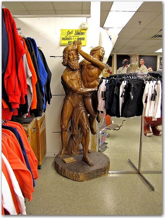 rape of persephone, statue, hades, demeter, pluto, shop, store, honest ed's, toronto, city, life
