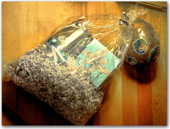 gift bag, coconut, chocolates, travel mug, toronto, city, life