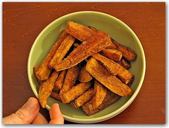 taiwanese yam fries, sweet potato, bowl, toronto, city, life