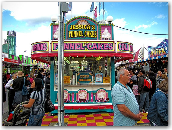 funnel cakes, cne, canadian national exhibition, toronto, city, life