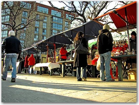 st. lawrence market, north hall, vendors, market, outdoor, sidewalk, shoppers, pedestrians, front street, toronto, city, life