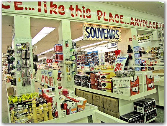 souvenirs, cooking equipment, shop, store, honest ed's, toronto, city, life