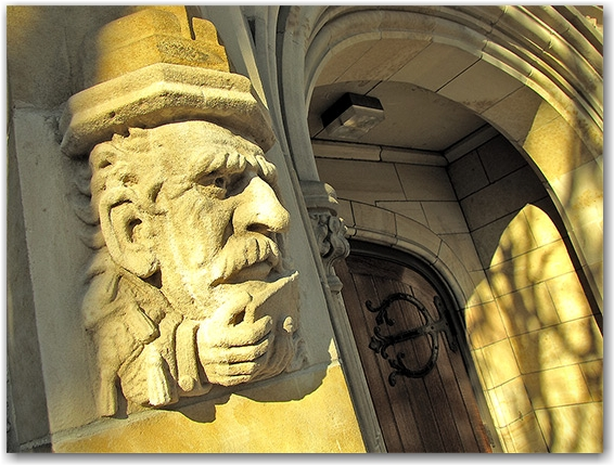 university of toronto, st. george campus, entrance, rock carving, adornment, thinking, toronto, city, life