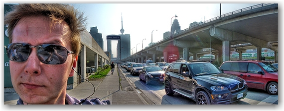 lakeshore boulevard, gardiner expressway, panorama, skyline, hdr, patrick bay, toronto, city, life, blog