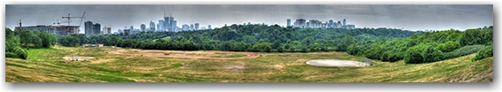 summer, heat, haze, panorama, hdr, toronto, city, life, blog