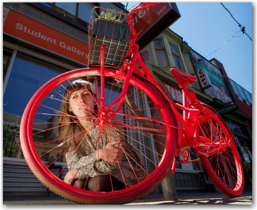 painted bicycle, ocad, caroline macfarlane, toronto, city, life,blog