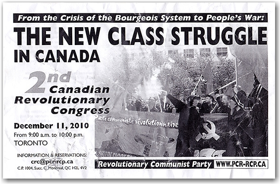 canadian revolutionary congress, communist, communism, propaganda, leaflet, toronto, city, life