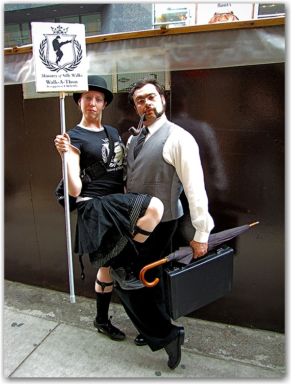 ministry of silly walks, walk-a-thon, canadian alliance of dance artists, cada-on. yonge street, toronto, city, life
