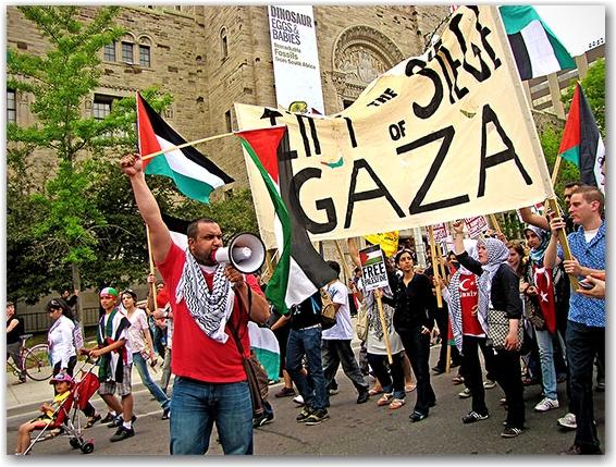 rom, royal ontario museum, university avenue, palestinian, israeli, protest, demonstration, march, rally, toronto, city, life