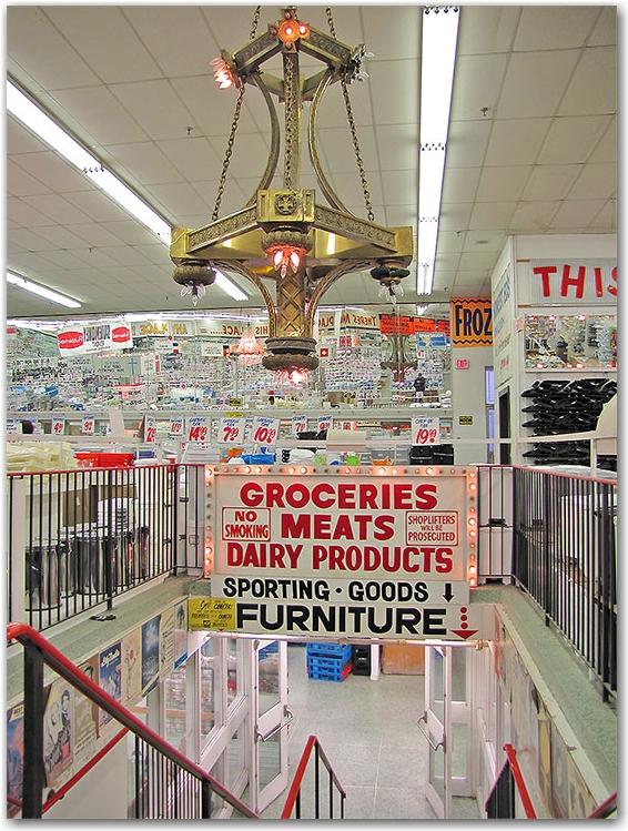 honest ed's, discount store, mirvish village, shop, chandelier, bargains, toronto, city, life