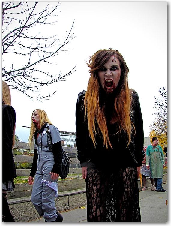 2010, city, life, toronto, zombie walk