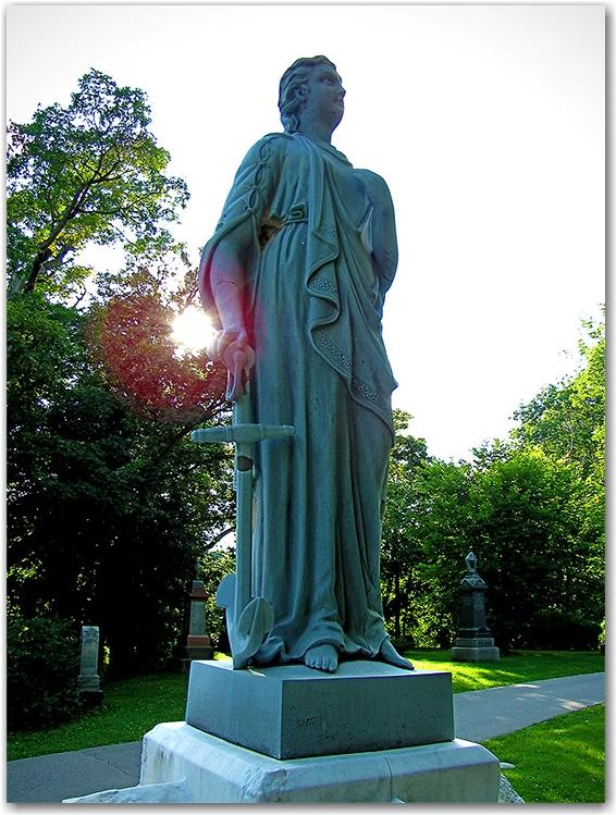 st. michael, statue, grave, mount pleasant cemetery, toronto, city, life
