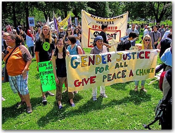 gender equality, protesters, protests, g20, allan gardens, toronto, city, life
