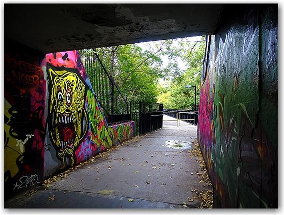 Sherbourne Station tunnel, Bloor Street East