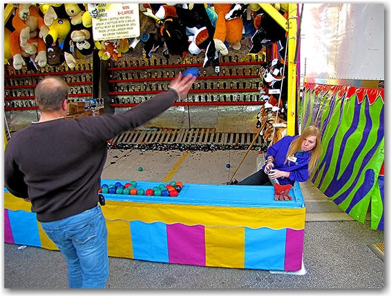 bottle breaking game, carnival, fair, cne, canadian national exhbition, toronto, city, life