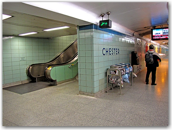 chester subway station, toronto transit commission, ttc, underground, toronto, city, life