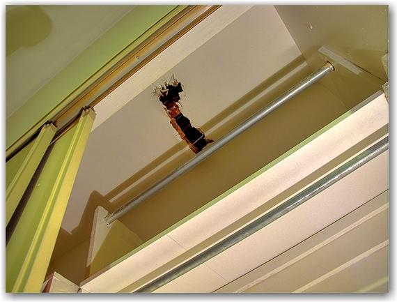 leak, ceiling, apartment, closet, water damage, toronto, city, life