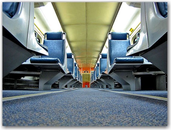 go, transit, train, coach, car, interior, upper level, floor, seats, seating, commuter, toronto, city, life