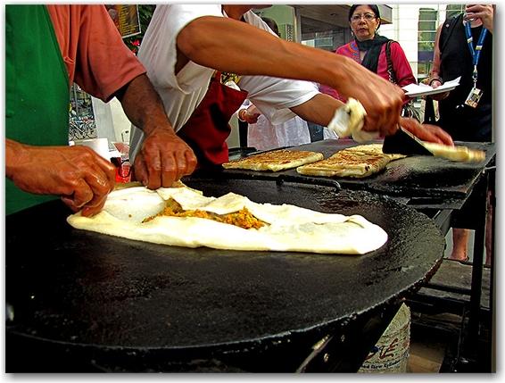 yonge-dundas square, food, vendors, east indian, roti, toronto, city, life
