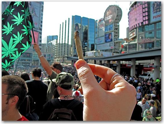 joint, 420, rally, demonstration, protest, pot, weed, cannabis, marijuana, yonge-dundas square, yds, toronto, city, life