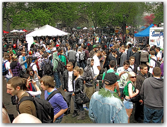 vendors, crowd, global marijuana march, freedom festival, queen's park, toronto, city, life