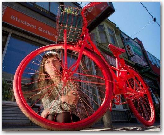 painted bicycle, ocad, caroline macfarlane, toronto, city, life,blog