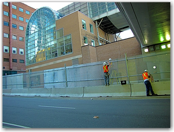 lower simcoe street, overpass, union station, skywalk, g20, security, fence, perimeter, toronto, city, life