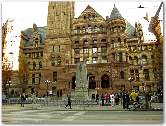 war memorial, veterans day, remembrance day, armistice day, ceremony, old city hall, queen street west, bay street, toronto, city, life