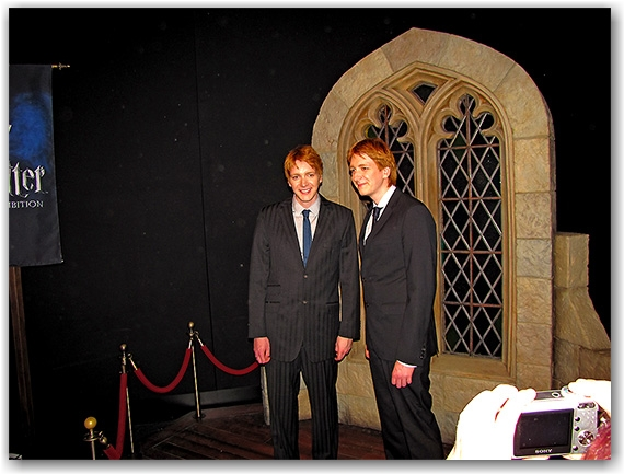 james and oliver phelps, weasley brothers, harry potter exhibit,  ontario science centre, toronto, city, life