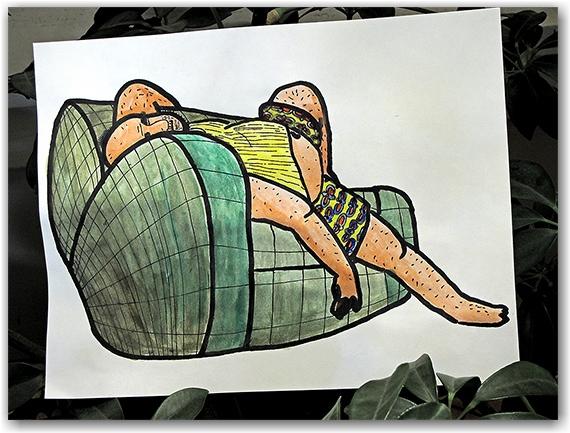 old man winter, drawin, watercolour, painting, toronto, city, life