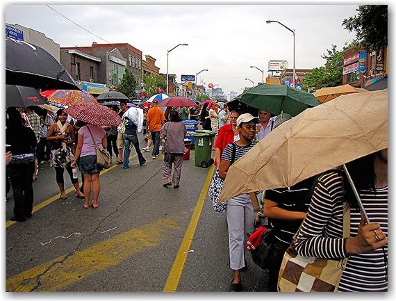 taste of the danforth, rain, toronto, city, life