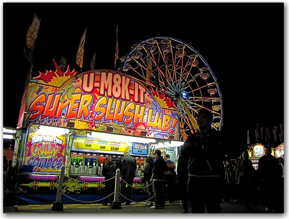 slushie station, ferris wheel, cne, canadian national exhibition, toronto, city, life