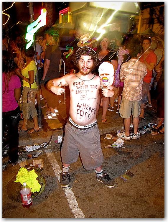 rob ford, mask, celebrations, pride, church street, toronto, city, life, blog