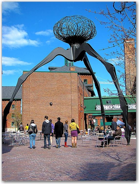 distllery district, gooderham and worts, public art, statue, toronto, city, life, blog