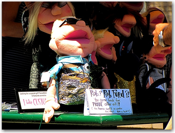 rob ford, puppet, marionette, toronto, city, life, blog