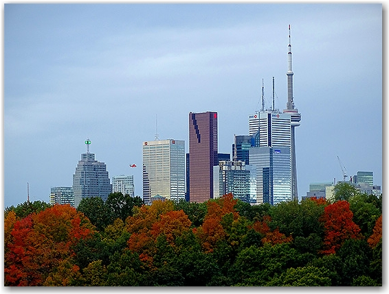 Skyline from the Don Valley Parkway