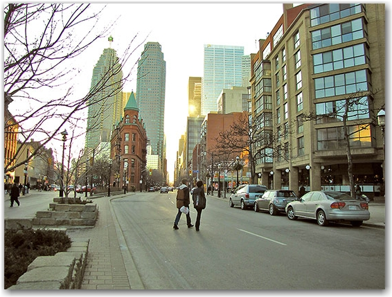flatiron building, wellington street east, toronto, city, life