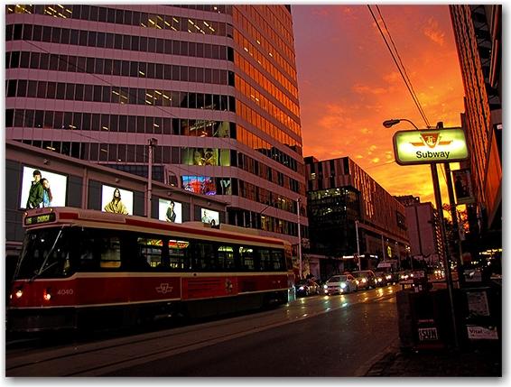 dundas street west, subway, ttc, streetcar, toronto, city, life